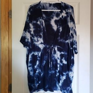 Maurices Blue Tie Dye Top